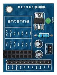 Недорогие -nRF905 беспроводной модуль гнездо адаптера пластины платы для Arduino + Raspberry Pi - синий