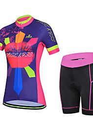 cheji® Biciklistička majica s kratkim hlačama Žene Kratkih rukava Bicikl Rukavi Biciklistička majica Kratke hlače Kompleti odjeće Quick