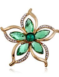baratos -Feminino Broches Acrílico Strass imitação de diamante Moda Verde Jóias Casamento Festa Ocasião Especial Aniversário Diário