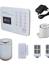 120 Wireless Zone GSM Home Alarm System With LCD Voice SMS CALL, Mobile Android IOS App For House Burglarproof Security