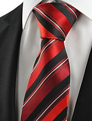 cheap -New Striped Red Black Formal Men's Tie Necktie Wedding Party Holiday Gift #1067