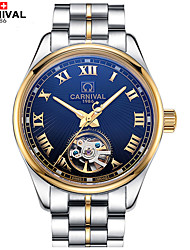 cheap -Carnival Men's Skeleton Watch Hollow Engraving Stainless Steel Band Charm White / Gold / Automatic self-winding