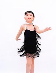 Tenue Robes(Comme l'image,Lycra,Costumes de Pom-Pom Girl Tenues pour Boîte de Nuit Danse latine Danse moderne Jazz Spectacle Salle de bal)