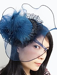 cheap -Gemstone & Crystal / Lace / Feather Fascinators / Headpiece with Crystal 1 Wedding / Special Occasion / Party / Evening Headpiece