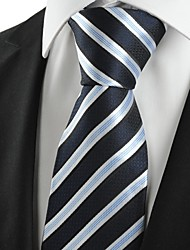 cheap -New Striped White Blue Classic Mens Tie Necktie Wedding Party Holiday Gift #1028