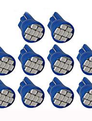 10pcs lorcoo ™ LED feux de voiture ampoule t10 3528 4 cms 194 168 (blanc, bleu)
