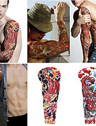 2 folhas extra grandes tatuagens temporárias, braço completo