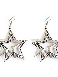 cheap -European Style Gold/Silver Star Earrings Jewelry for Women