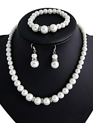 cheap -Women's Jewelry Imitation Pearl Party Anniversary Engagement Alloy Earrings Necklaces Bracelets