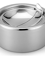 Stainless Steel Windproof Ashtrays Flip-top Table-Top Smokeless Ashtray