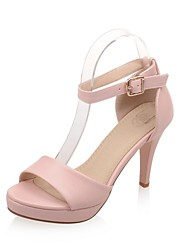 cheap -Women's Shoes Stiletto Heels/Platform/Sling back/Open Toe Sandals Party & Evening/Dress Black/Pink/White