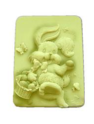 Недорогие -Кролик Shaped Выпекать Плесень, W9.5cm х L7.6cm х H3.1cm