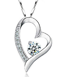 cheap -Heart Cute Love Heart Birthstones Silver , Thank You Valentine