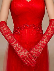 Lace Elbow Length Glove Bridal Gloves Party/ Evening Gloves Elegant Style