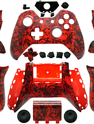 cheap -Replacement Controller Case for Xbox One Controller (Red Skull)