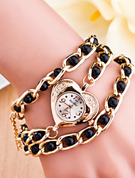cheap -Women's Korea's Golden Clip Pearl Love Ladies Watch Bracelet Watch