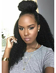 Afirdable  8A Glueless or Lace Front Wigs in Kinky Curly Indian Remy Virgin Human Hair