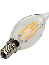 1pc 4w e14 levou lâmpadas de filamentos ca35 360lm quente / frio branco decorativo ac220-240v