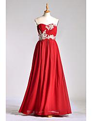 vestito dalla damigella d'onore del charmeuse di lunghezza del pavimento della damigella d'onore a-line con bordare da lan ting bride®