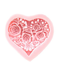 cheap -3D Heart Flowers Silicone Mold Fondant Molds Sugar Craft Tools Chocolate Mould  For Cakes