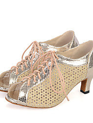 Women's Dance Shoes Belly / Jazz / Dance Sneakers / Modern / Swing Shoes / Samba Leather / Sparkling GlitterFlared