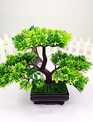 Artificial Japanese Cedar Bonsai Tree Modern Home Decor (Green)