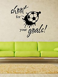 cheap -Hot Shoot for Your Goals Football Soccer Removable Decal Wall Sticker Home Deco