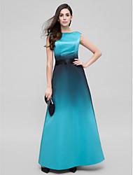 Trapèze Longueur Cheville Satin Promo Soirée Formel Robe avec Ceinture / Ruban par TS Couture®