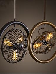 cheap -Retro Industrial Wind lamp fan pendant lamp American style bar