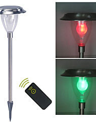 cheap -Remote control Solar Light Sensor White & Color Changing Garden Spike Mounted Light