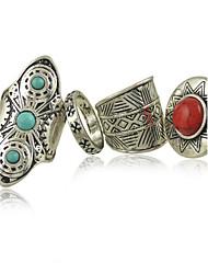 Ringe Damen Türkis Legierung Legierung 8 Silber / Rot / BlauFarbe & Stil Darstellung variiert je nach Monitor. Nicht verantwortlich für