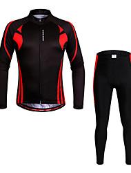 baratos -WOSAWE Calça com Camisa para Ciclismo Unisexo Manga Comprida MotoCalças Pulôver Camisa/Roupas Para Esporte braço aquecedores Blusas