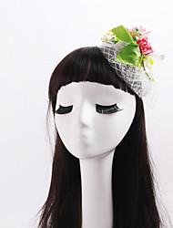 abordables -casco de flores red plástica de la tela estilo femenino clásico