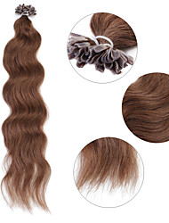 "Neitsi 20"" 1g/s Keratin Fusion U Nail Tip Natural Wave 100% Human Hair Extensions 8#"