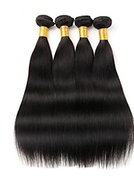 cheap -Peruvian Virgin Hair 4pcs 200g straight human hair weaves natural black peruvian straight hair 8-26 inch