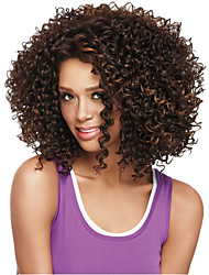 cheap -Synthetic Wig Curly Synthetic Hair African American Wig Wig Women's Medium Length Capless