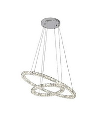 LED Crystal Pendant Lights Lighting Modern D3050 2 Rings Three Sides K9 Crystal Indoor Ceiling Lights Lamp Fixtures