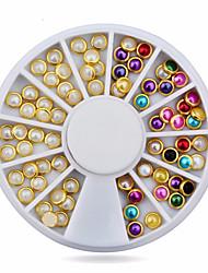 1wheel metal edge pearls nail decorations-Gioielli per unghie-Adorabile-Dito- diAcrilico-6cm wheel