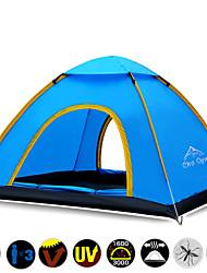 Недорогие -3-4 человека Световой тент Тройная Палатка Однокомнатная Автоматический тент Водонепроницаемость Быстровысыхающий Ультрафиолетовая
