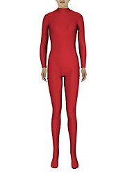 cheap -Zentai Suits Ninja Zentai Cosplay Costumes Red Solid Colored Leotard / Onesie Zentai Spandex Lycra Men's Women's Halloween