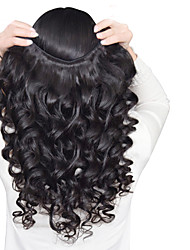 cheap -3 Pieces Loose Wave Human Hair Weaves Peruvian Texture 50 8-26 Human Hair Extensions