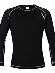 cheap -WOSAWE Long Sleeve Baselayer / Cycling Jacket Bike Jersey, Thermal / Warm, Fleece Lining Polyester, Fleece