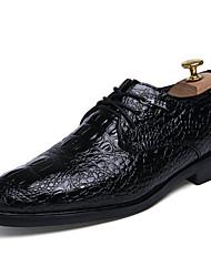Hombre Zapatos Semicuero Primavera Verano Otoño Invierno Zapatos formales Oxfords Paseo Remache Con Cordón Para Boda Casual Fiesta y Noche