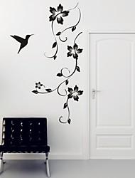 Romance / Moda / Floral Wall Stickers Autocolantes de Aviões para Parede,PVC M:42*100cm / L:55*130cm