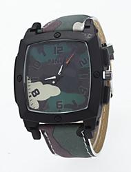 cheap -Men's Wrist Watch Hot Sale / / PU Band Casual Blue / Red / Green