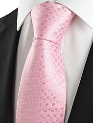 Classic Pink Dot JACQUARD Men's Tie Necktie Wedding Holiday Valentine Gift #0026