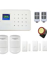 système d'alarme sans fil GSM G18 tactile tft Alarmas porte d'affichage pir pour la sécurité maison intelligente android ios app&le