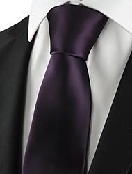 abordables -Cravate(Violet,Polyester)Couleur Pleine
