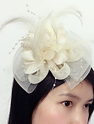 cheap -Tulle / Feather / Net Fascinators with 1 Wedding / Special Occasion Headpiece