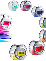 cheap -Led Color Changing Light Nature Sound Alarm Clock Calendar Snooze Temperature